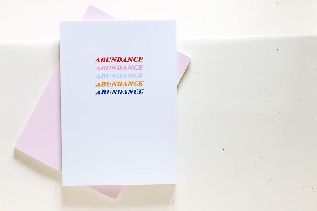 abundance-notizbuch